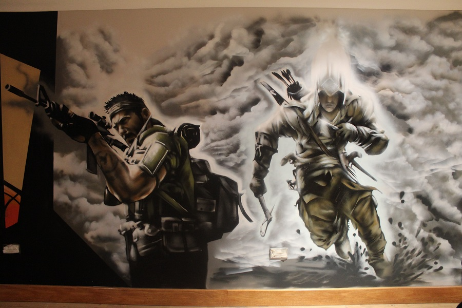 3d Wallpaper For Bedroom Uk Call Of Duty Cod Bedroom Mural Graffiti Press