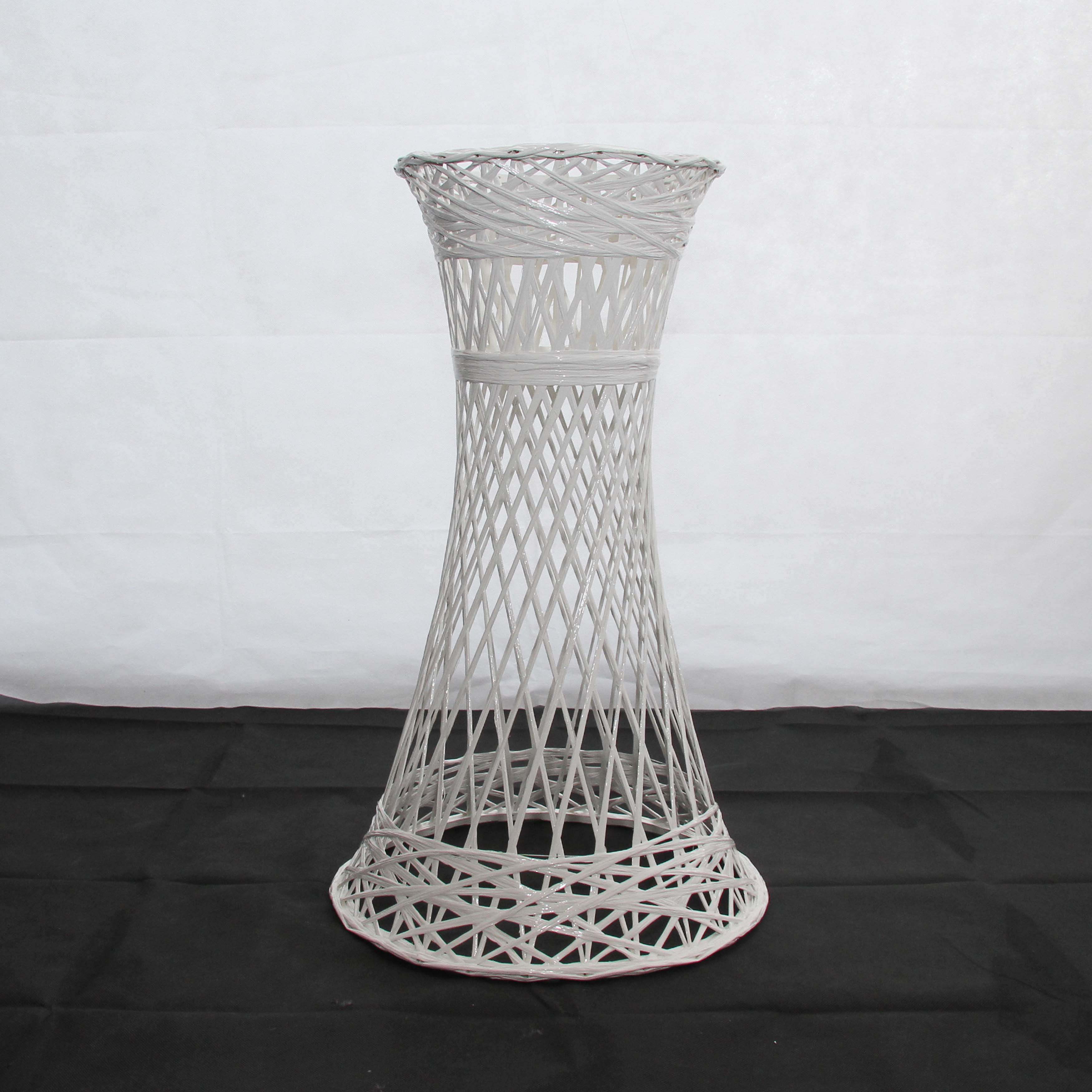 White Pedestal Plant Stands Flower Pedestal White 2 Sizes Harrisons Hiremaster