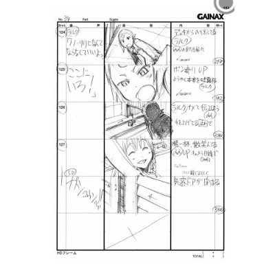 Japanese anime manga STORYBOARD BOOK - Aim for the TOP2! - anime storyboard