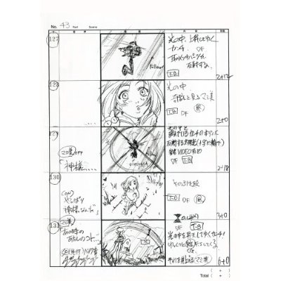 Japanese anime manga STORYBOARD BOOK - FLCL - anime storyboard