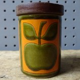 Vintage Hornsea Pottery apple salt shaker | H is for Home