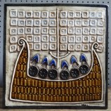 Lisa Larson Viking ship tile