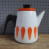 Orange Cathrineholm Lotus coffee pot