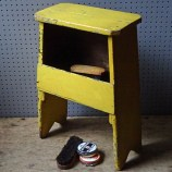 Yellow-painted vintage shoe polishing stool | H is for Home