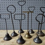 Antique metal display stand collection | H is for Home