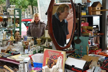 Bric-a-brac for sale on Todmorden Flea Market
