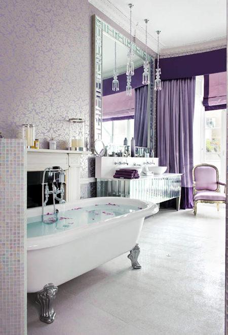 feminine bathroom style