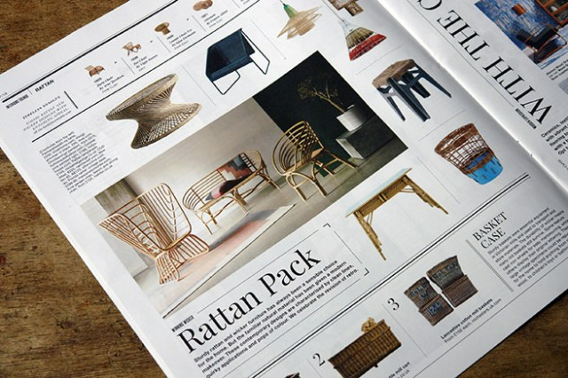 'Rattan Pack' article in Warehouse Home magazine