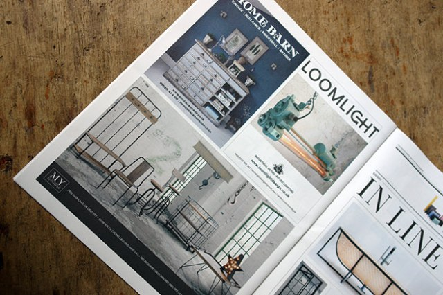 Page of ads in Warehouse Home magazine
