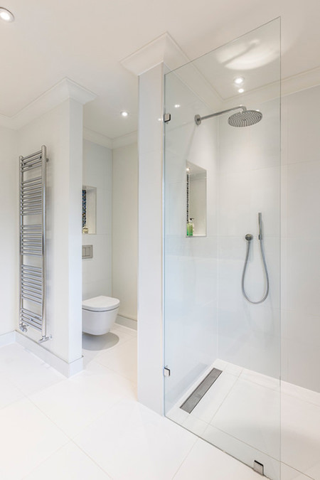 white toilet and shower room