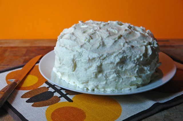 Home-made white velvet cake with creamy mascarpone frosting | H is for Home