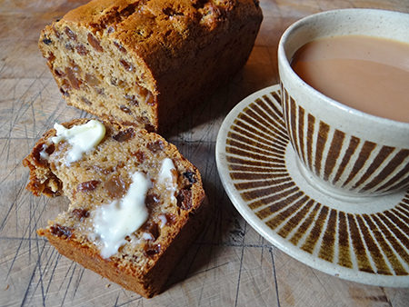 Buttered Yorkshire tea loaf and cup of tea | H is for Home