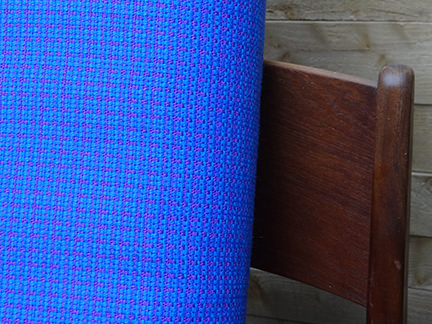 vintage blue upholstery fabric