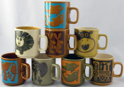 vintage Hornsea mug collection