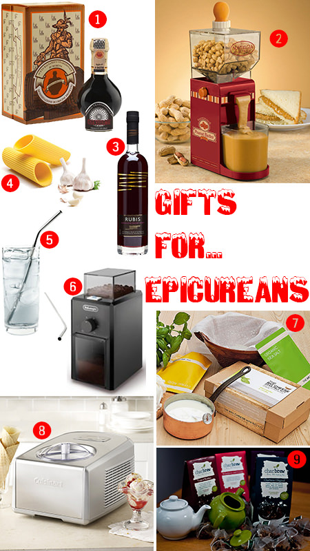 selection of Christmas gifts for epicureans