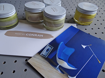 Paint by Conran sample pots and brochure
