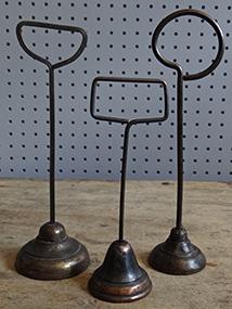 trio of vintage jewellery display stands