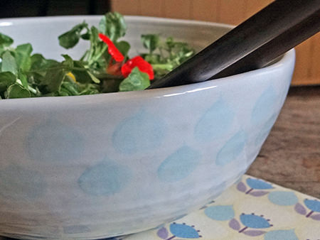 'Sienna' salad bowl with 'Florence' teatowel