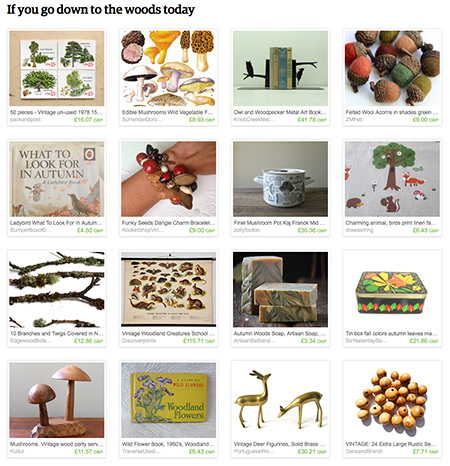 'If you go down to the woods today' Etsy List by H is for Home