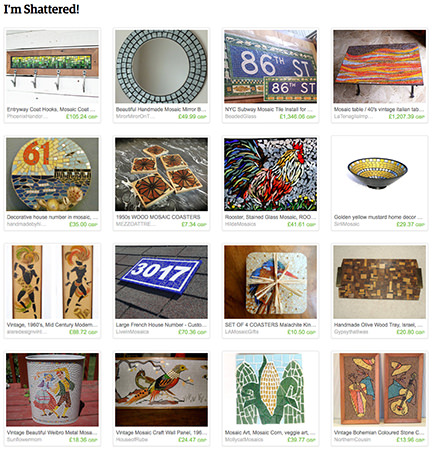 'I'm Shattered!' Etsy List curated by H is for Home