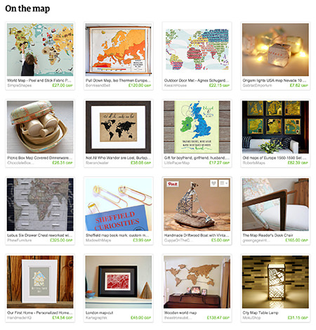 'On the map' Etsy List curated by H is for Home