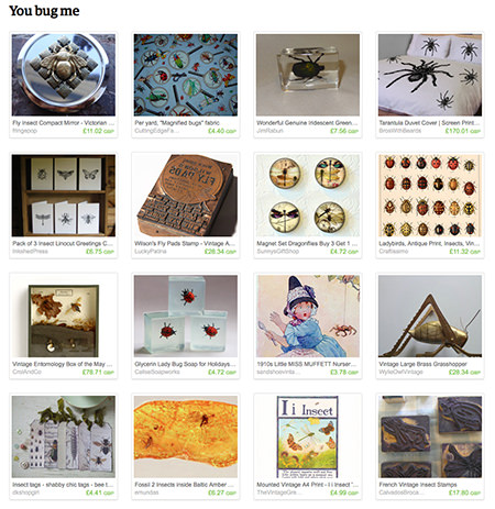'You bug me' Etsy List curated by H is for Home
