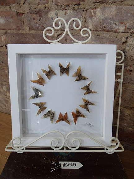 Kate Bufton's framed butterfly book transformation