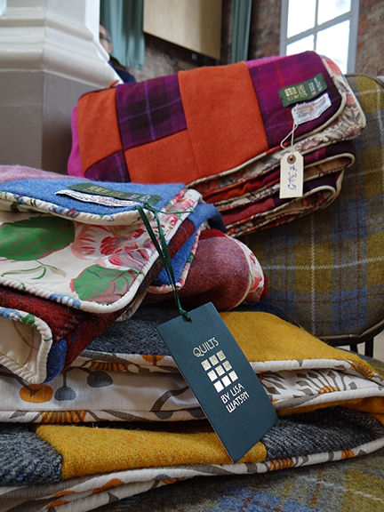 Lisa Watson's handmade velvet and Harris Tweed heirloom quilts