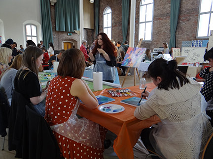 Swoon Worthy painting workshop at Home is in the North event in Ancoats, Manchester