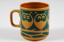 vintage Hornsea mug with owls
