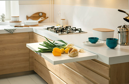 Kitchen countertop extension chopping board