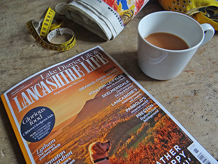 Lancashire Life magazine with vintage David Whitehead fabric