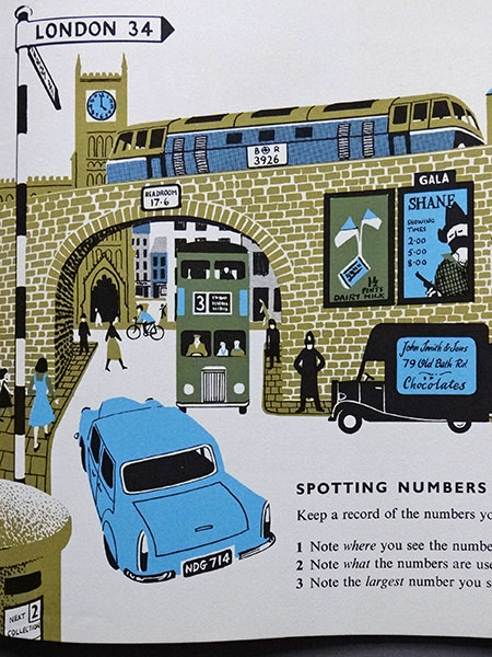Spotting numbers illustration