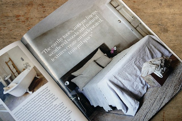 Double bedroom decorated in natural colours from the 'Less is More' article in the May 2016 edition of Country Living magazine