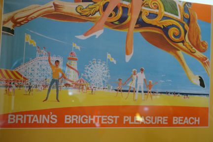 detail from original vintage 'Coney Beach' travel poster