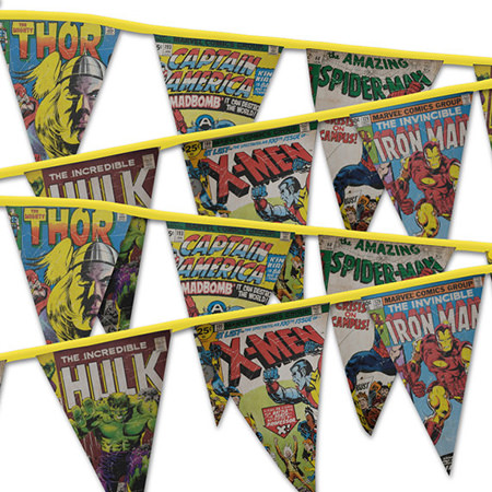 superhero bunting by Noahs Ark & Crafts on Etsy