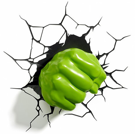 Hulk wall light