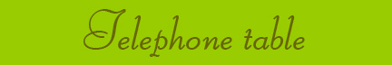 'Telephone table' blog post banner