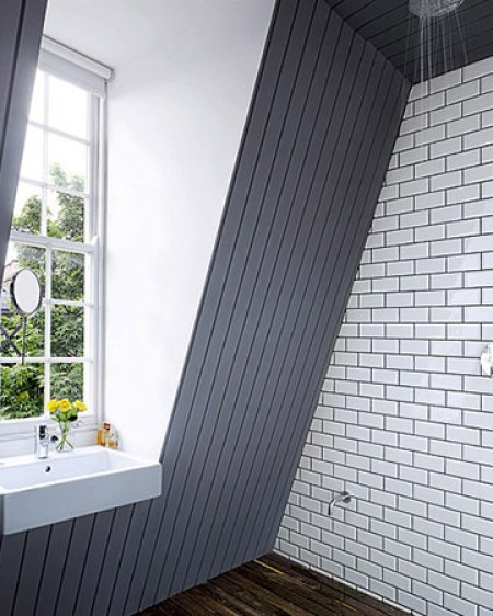 Wet room installed into a loft space