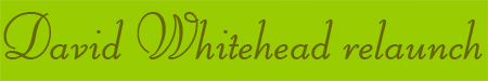 'David Whitehead relaunch' blog post banner