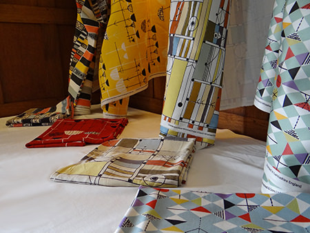Rolls of relaunched David Whitehead fabric