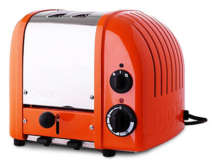 limited edition orange Dualit toaster for Selfridges