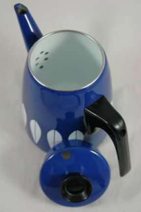 Dark blue Cathrineholm coffeepot