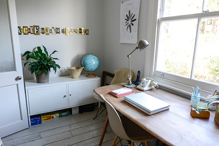 Courtney Adamo's home office