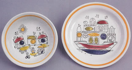 Rorstrand 'Ark' plate and bowl