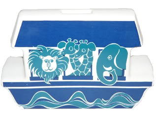 Vintage Carlton Ware Pottery money box in the shape of an ark | H is for Home