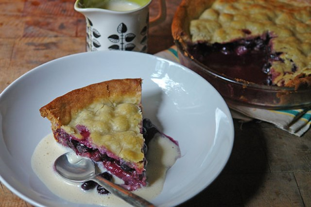 Slice of home-made blueberry pie | H is for Home