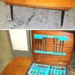 Charity Vintage: Viners cutlery storage table