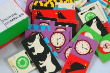 Vintage children's dominoes | H is for Home