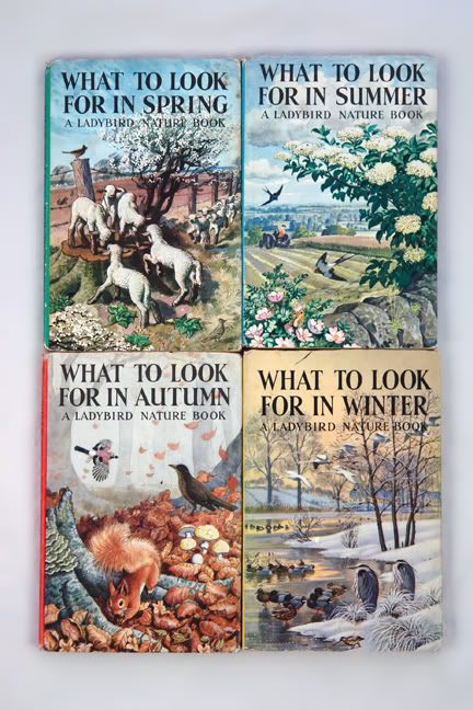 Pile of vintage Ladybird books | H is for Home